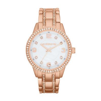 Liz Claiborne Liz Claiborne Womens Rose Goldtone Bracelet Watch-Lc1194t