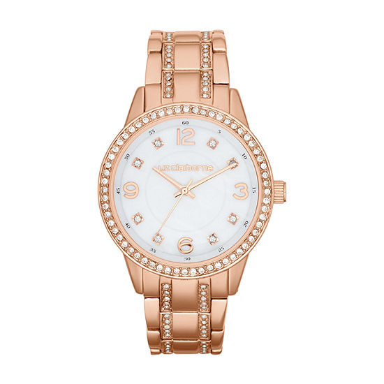 Liz Claiborne Womens Rose Goldtone Bracelet Watch-Lc1194t