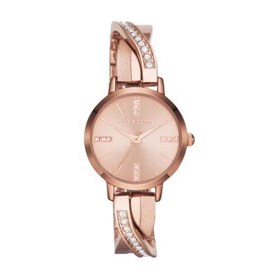 Liz Claiborne Liz Claiborne Womens Rose Goldtone Bracelet Watch-Lc1219t
