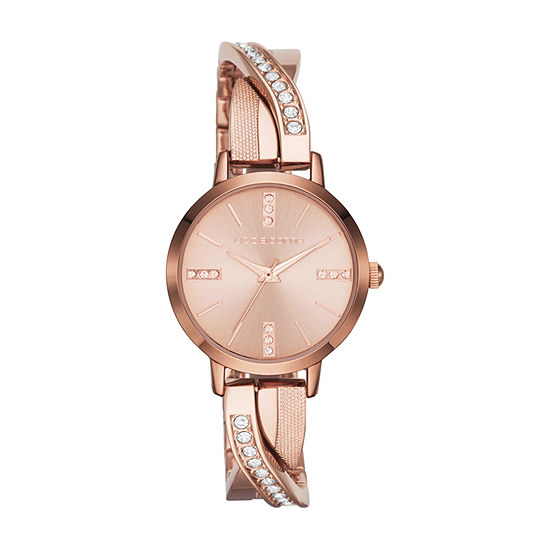 Liz Claiborne Womens Rose Goldtone Bracelet Watch-Lc1219t