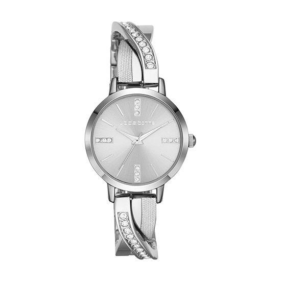 Liz Claiborne Womens Silver Tone Bracelet Watch-Lc1280t