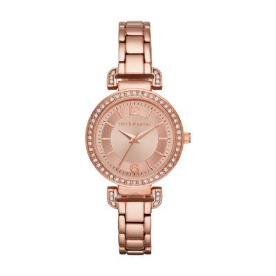 Liz Claiborne Liz Claiborne Womens Rose Goldtone Bracelet Watch-Lc1301t