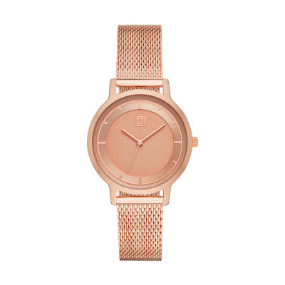 Liz Claiborne Liz Claiborne Womens Rose Goldtone Bracelet Watch-Lc1356t