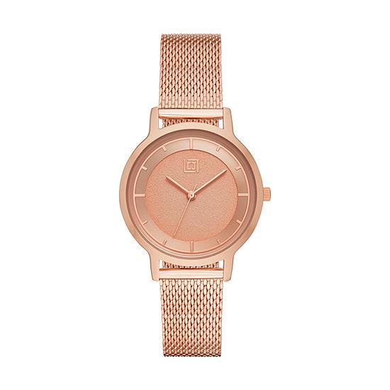 Liz Claiborne Womens Rose Goldtone Bracelet Watch-Lc1356t