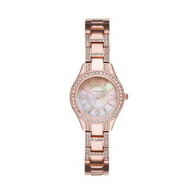 Liz Claiborne Liz Claiborne Womens Rose Goldtone Bracelet Watch-Lc1357t