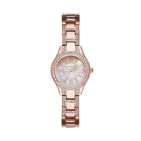 Liz Claiborne Womens Rose Goldtone Bracelet Watch-Lc1357t