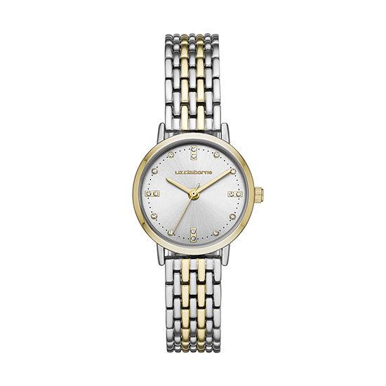 Liz Claiborne Liz Claiborne Womens Two Tone Bracelet Watch-Lc1361t