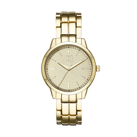 Liz Claiborne Womens Gold Tone Bracelet Watch-Lc1368t