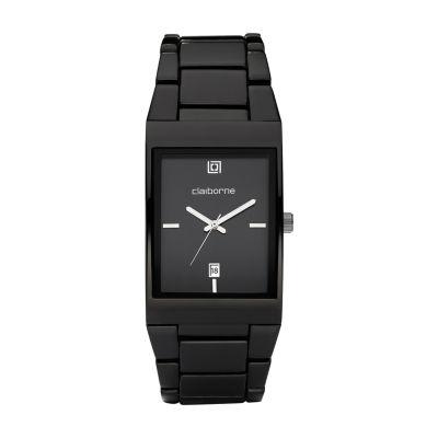 Claiborne Mens Black Bracelet Watch-Clm1039t