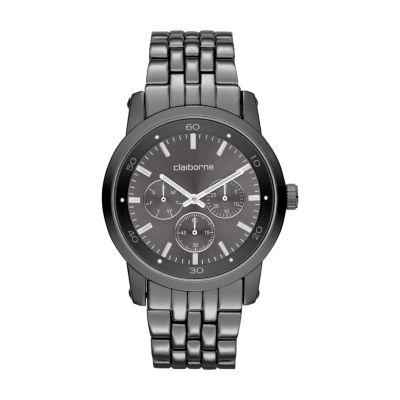 Claiborne Mens Gray Bracelet Watch-Clm1069t