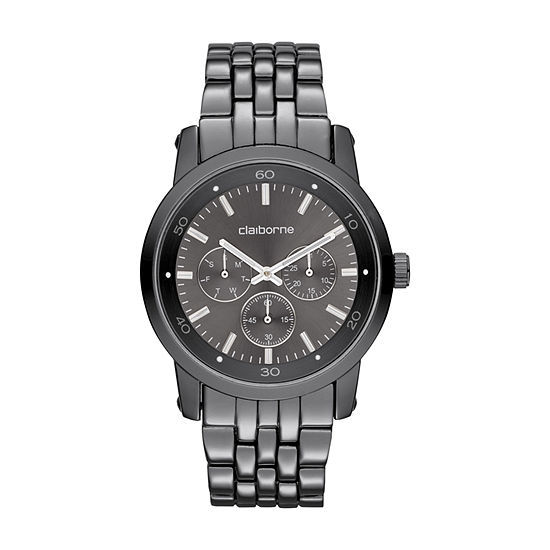 Claiborne Mens Gray Bracelet Watch-Clm1069t
