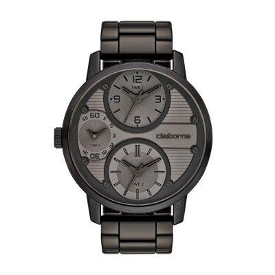 Claiborne Mens Gray Bracelet Watch-Clm1110t