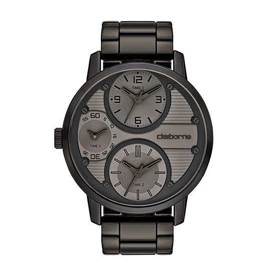 Claiborne Mens Gray Bracelet Watch Clm1110t