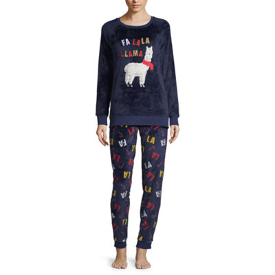 Peace Love And Dreams Plush 2-pc. Pant Pajama Set