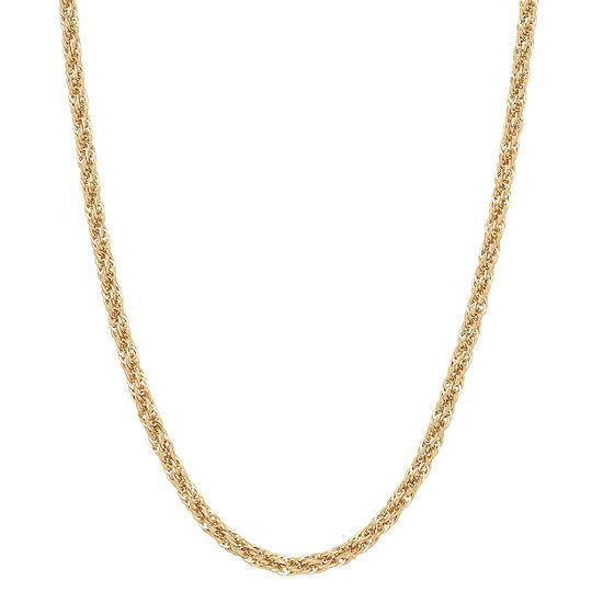Womens 20 Inch 10K Gold Link Necklace