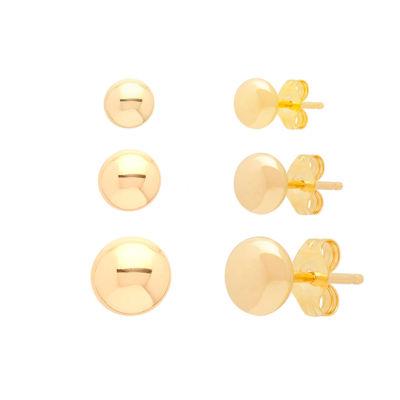 14K Gold Earring Set
