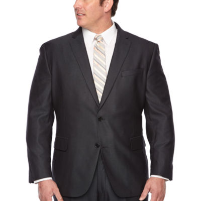JF J.Ferrar Stripe Stretch Suit Jacket-Big and Tall