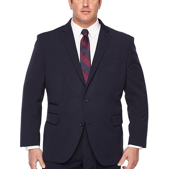 JF J.Ferrar Striped Stretch Suit Jacket- Big and Tall