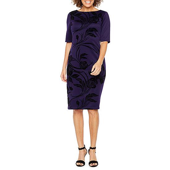 0febe406 Ronni Nicole Elbow Sleeve Floral Sheath Dress - JCPenney