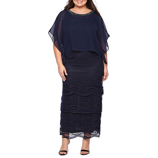 Maya Brooke Sleeveless Evening Gown-Plus