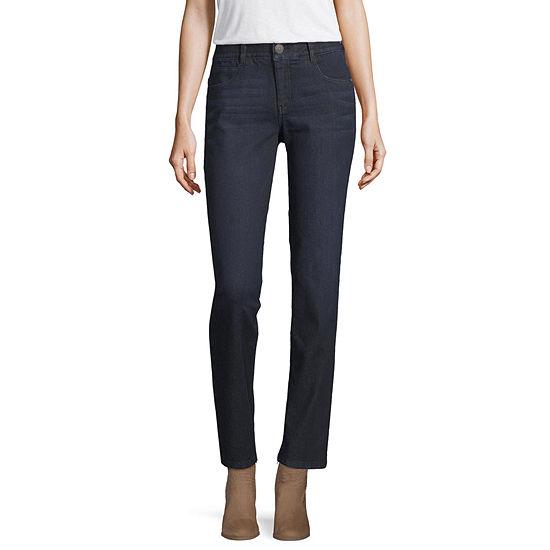 Artesia Womens Mid Rise Straight Leg Jean