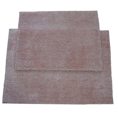 Heathered Microplush 2pc Bath Rug Set
