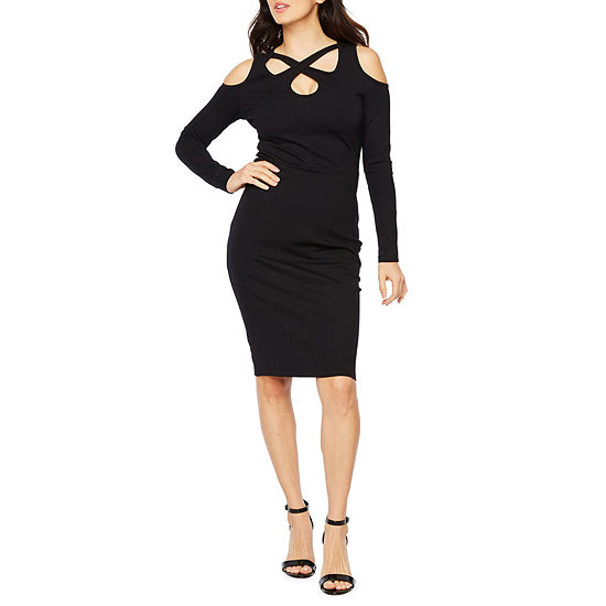 Bold Elements Long Sleeve Cut Outs Bodycon Dress