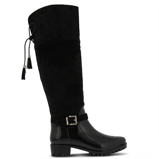 Spring Step Womens Mattie Rain Boots Waterproof Block Heel