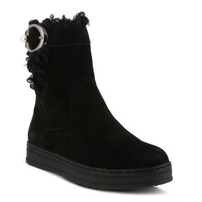 Spring Step Womens Lammie Water Resistant Winter Boots Flat Heel Zip