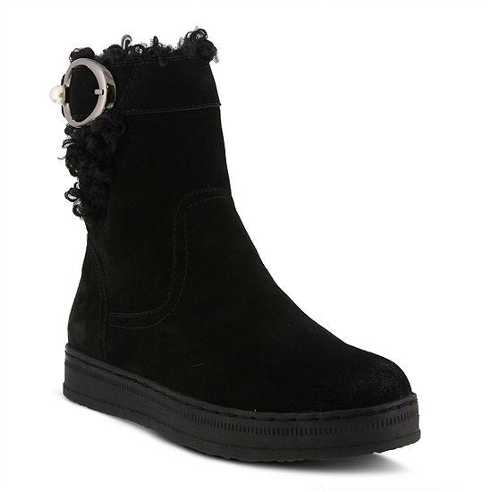 Spring Step Womens Lammie Water Resistant Winter Boots Flat Heel