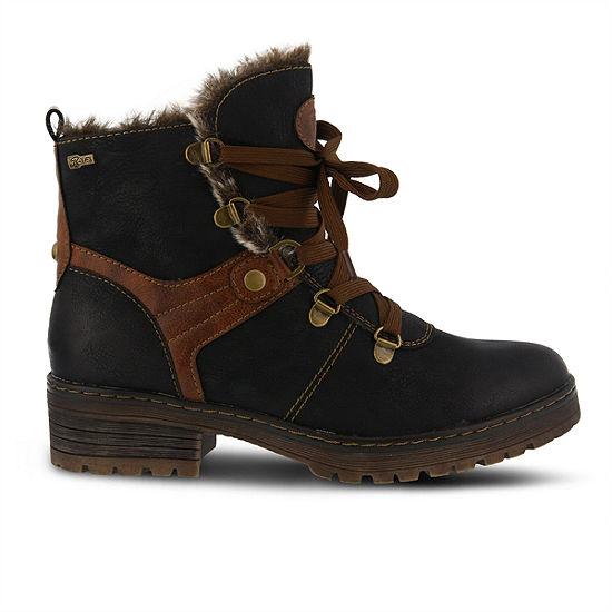 Spring Step Womens Micah Water Resistant Winter Boots Block Heel