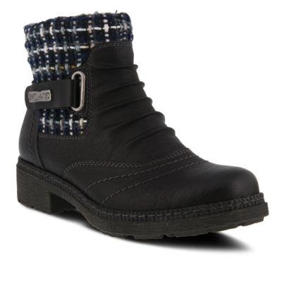 Spring Step Womens Citrine Water Resistant Winter Boots Block Heel Zip