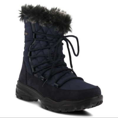 Flexus Womens Denilia Waterproof Snow Boots Flat Heel Zip