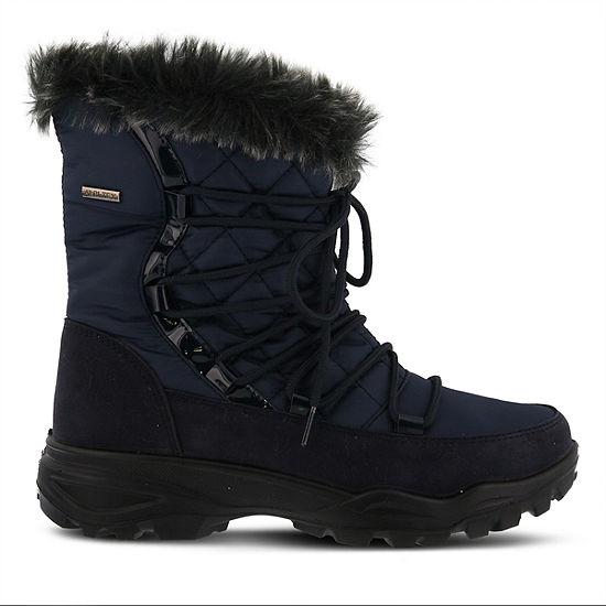 Flexus Womens Denilia Waterproof Snow Boots Flat Heel