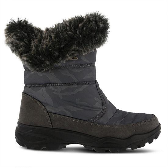 Flexus Womens Korine Waterproof Winter Boots Flat Heel