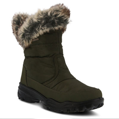 Flexus Womens Korine Waterproof Snow Boots Flat Heel Zip