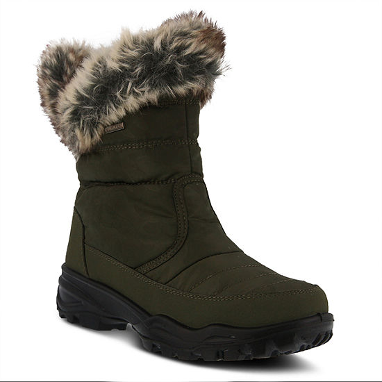 Flexus Womens Korine Waterproof Snow Boots Flat Heel Zip - JCPenney 99d939ddf7