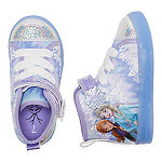 Disney Collection Frozen High Top Toddler Girls Sneakers