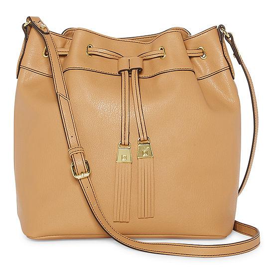 Liz Claiborne Lanah Draw String Crossbody Bag