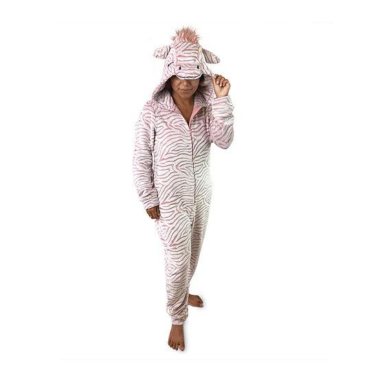 Peace Love And Dreams Womens Plush Long Sleeve One Piece Pajama