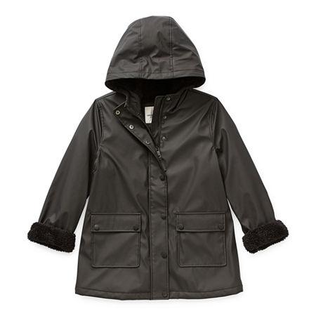 Urban Republic Girls Midweight Raincoat, 6x , Black