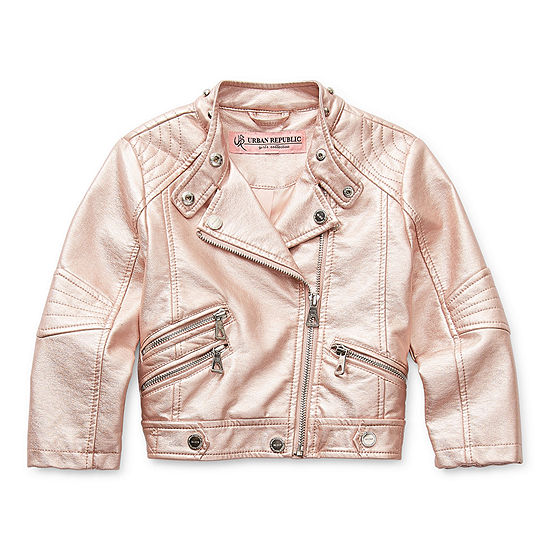 Urban Republic Big Girls Midweight Motorcycle Jacket