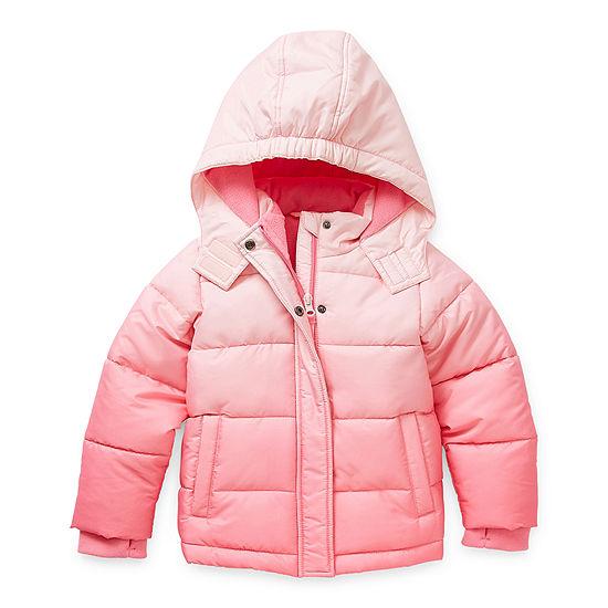 Okie Dokie Toddler Girls Hooded Heavyweight Puffer Jacket