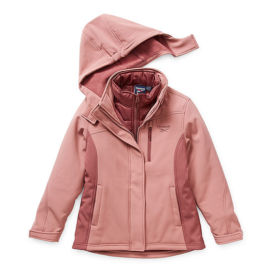 Reebok Little & Big Girls Hooded Water Resistant Heavyweight 3-In-1 System Jacket