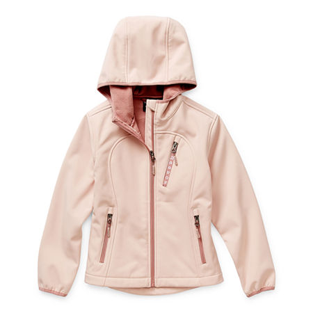 Reebok Girls Midweight Softshell Jacket, 5-6 , Pink
