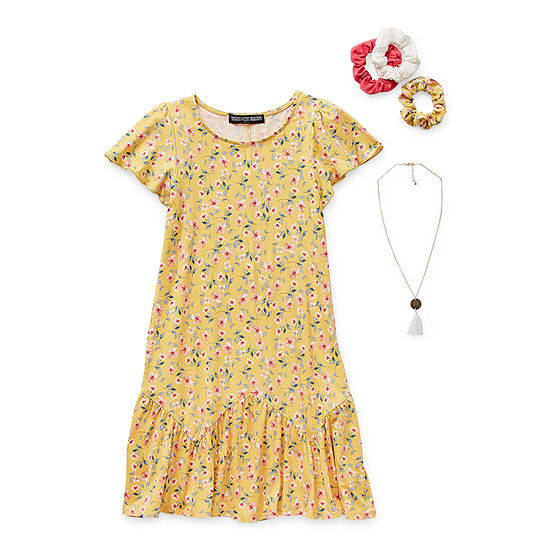 Trixxi Girl Big Girls Short Sleeve Fit & Flare Dress