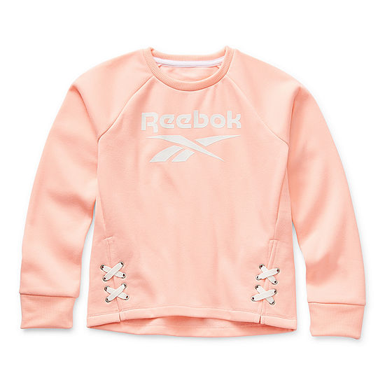 Reebok Big Girls Round Neck Long Sleeve Sweatshirt