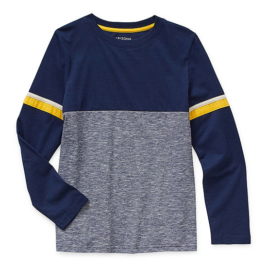 Arizona Little & Big Boys Crew Neck Long Sleeve T-Shirt