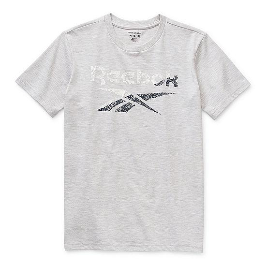 Reebok Big Boys Crew Neck Short Sleeve T-Shirt