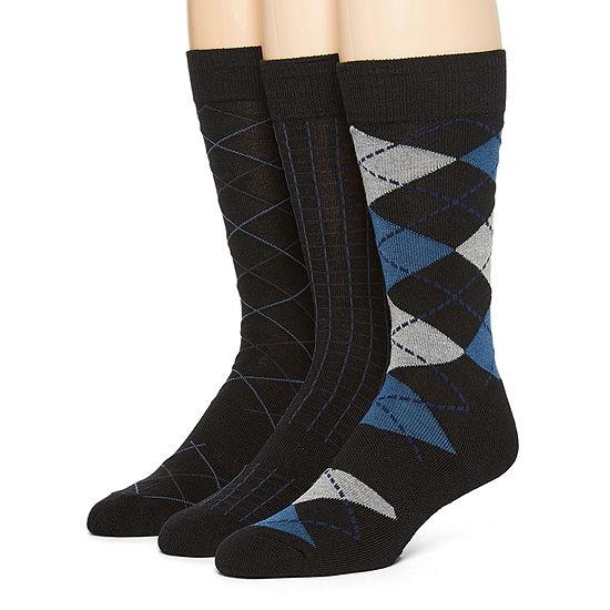 Stafford Repreve 3 Pair Crew Socks-Mens